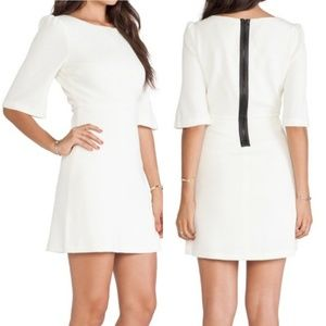 alice + olivia Maely Textured Bell Sleeve Dress